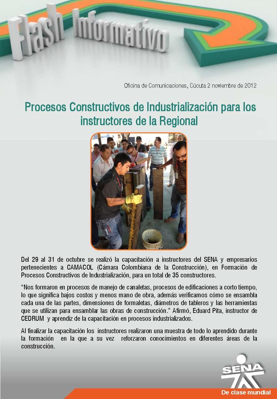 Regional norte de santander procesos constructivos de for Oficina de correos santander