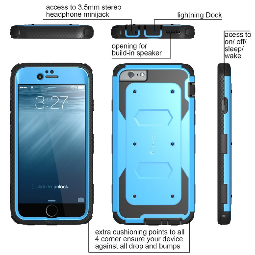 iPhone 6 Plus Case , i-Blason® [Armorbox] built-in Screen Protector - image
