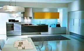 acrylic solid surface kitchen with dining hall