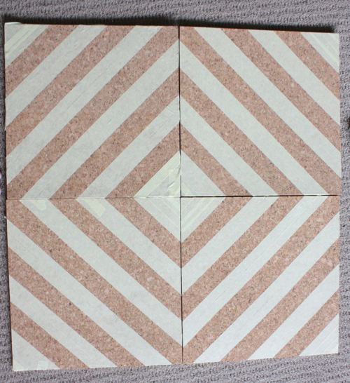 The Happy Home Crafty Decorating Painted Cork Tile Pinboard