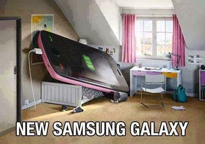 A new SAMSUNG GALAXY mobile, funny image and picture