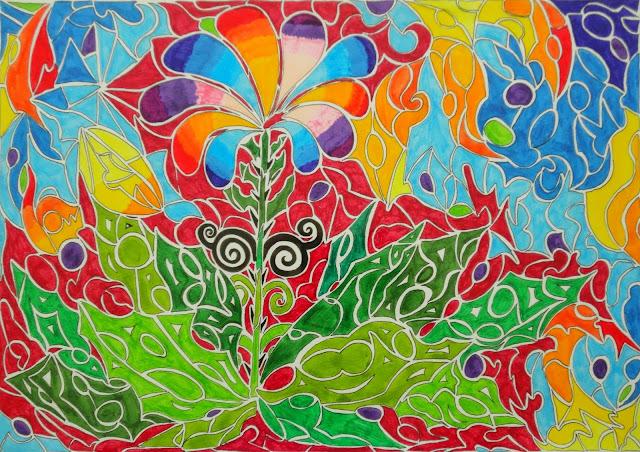 Dessins Fantastiques Fleur+abstraite