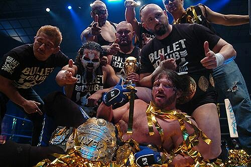 New Japan Pro Wrestling NJPW AJ Styles IWGP Champion Title Bullet Club heel stable Karl Anderson Yujiro Takahashi CHAOS