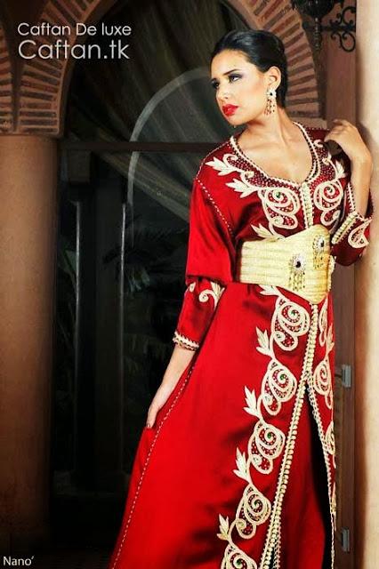 robe-marocaine-rouge-chic-classe-2014