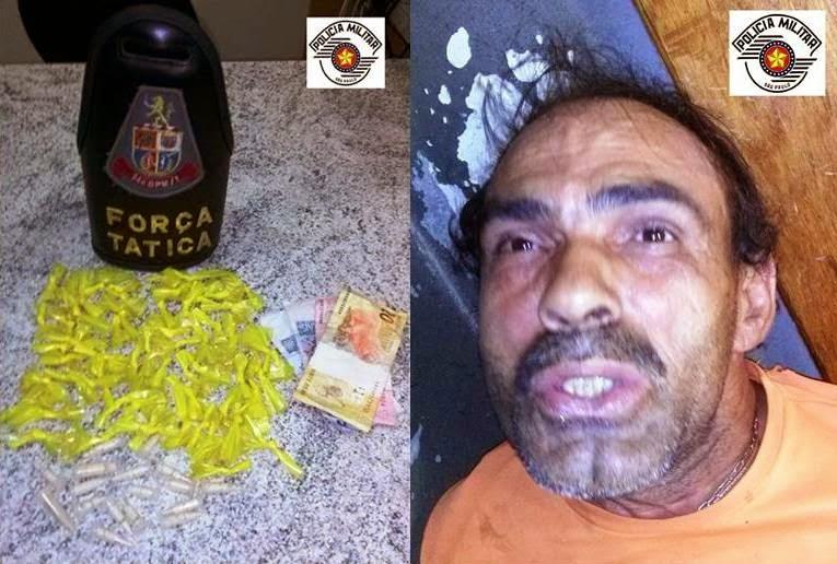 EQUIPES DA POLÍCIA MILITAR PRENDEM TRAFICANTE EM REGISTRO-SP