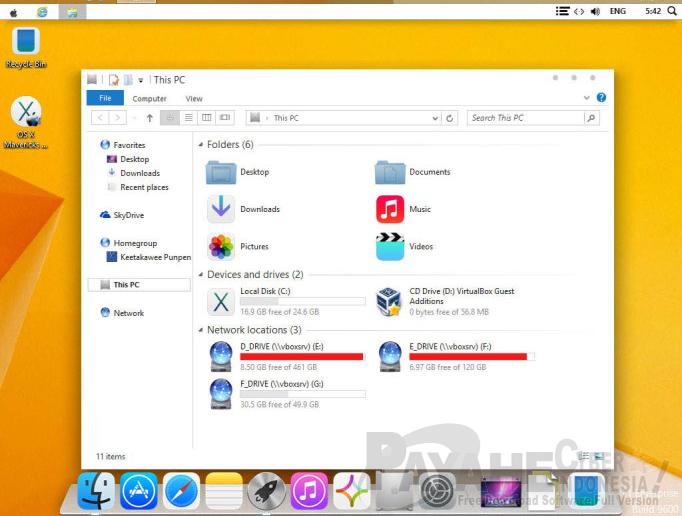 Skinpack Windows Mac OS X Mavericks  v2.0 Final