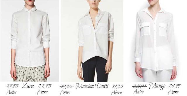 Camisas Mango-Zara-MassimoDutti