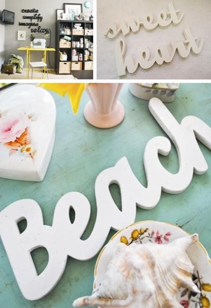 La casita de papel diy hacer letras decorativas muy f ciles - La factoria plastica ...