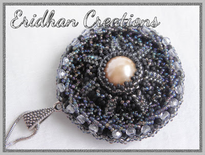 beaded medallion pendant