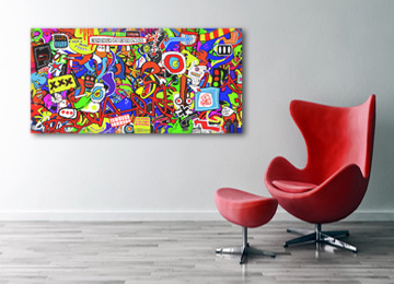 neo expressionism, expressionism, abstract, graffiti, contemporary, large wall art, art, canvas art, artist, multi coloured,
