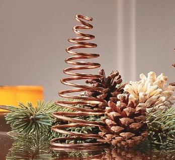Arbol de Navidad de mesa de alambre, muy facil