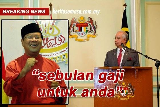 Berita Bonus Raya Kakitangan Kerajaan Selangor 2014 Sebulan Gaji Tahniah