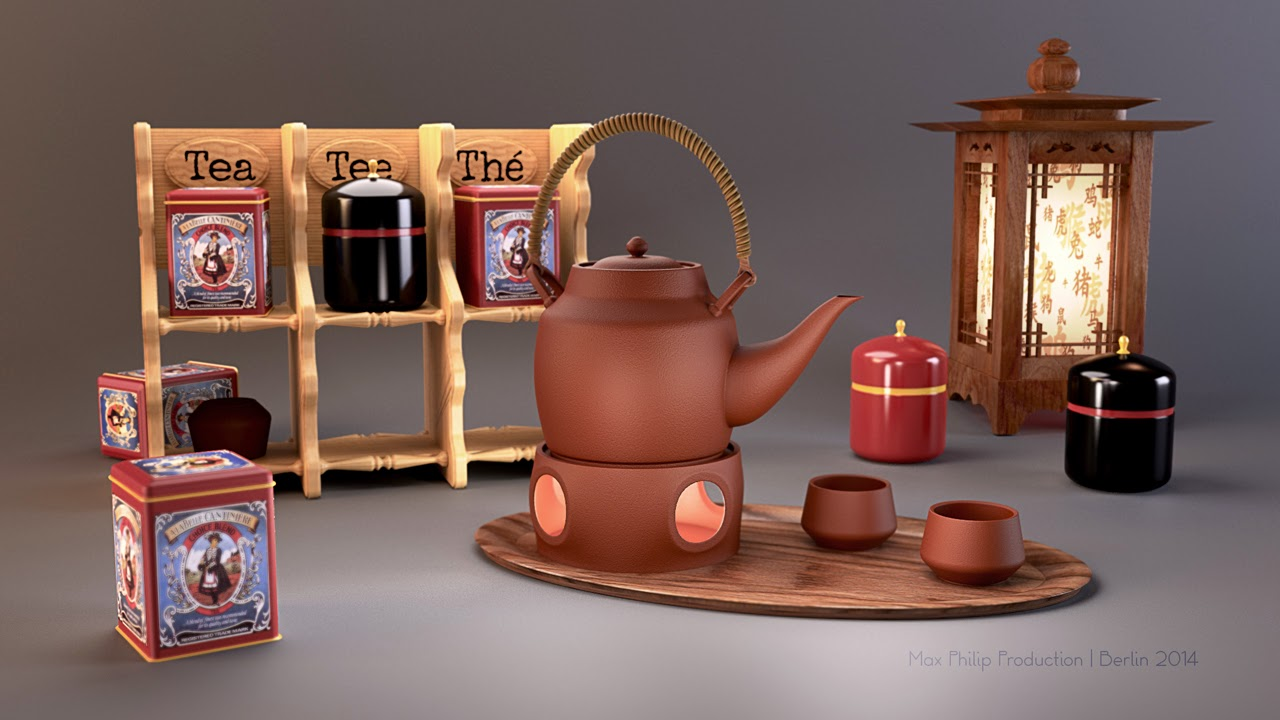 Sillife Tea made with Coorna Render Plugin for 3ds max