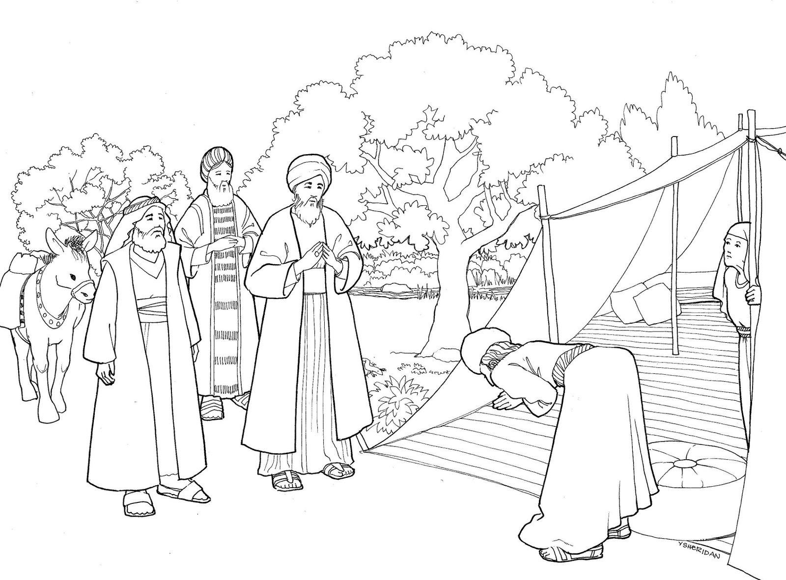the catholic illustrator u0027s guild god visits abraham