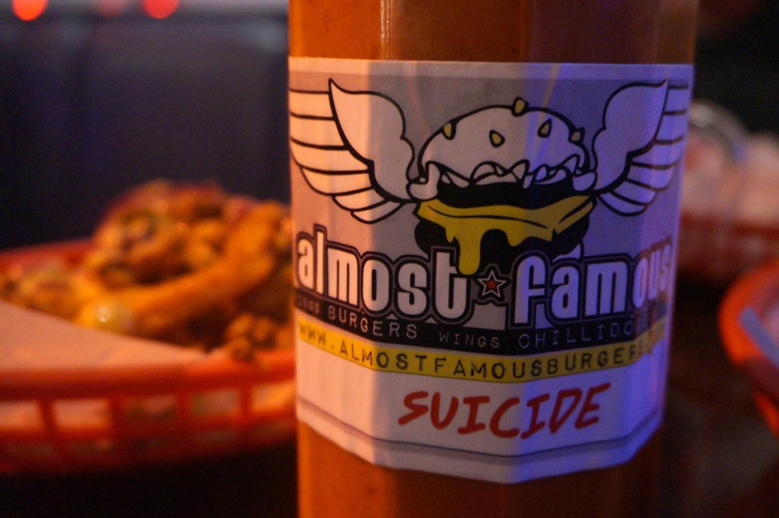 Almost Famous Burgers Liverpool Suicide Sauce
