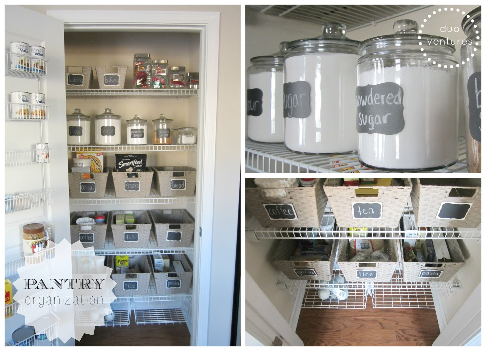 Organize Kitchen Cabinets And Pantry Duo ventures organizing the pantry 10 since i recently organized every drawer cabinet in our kitchen it was only fair that i made sure the pantry was equally as organized right workwithnaturefo