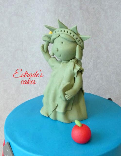 Estatua de la libertad de fondant 2