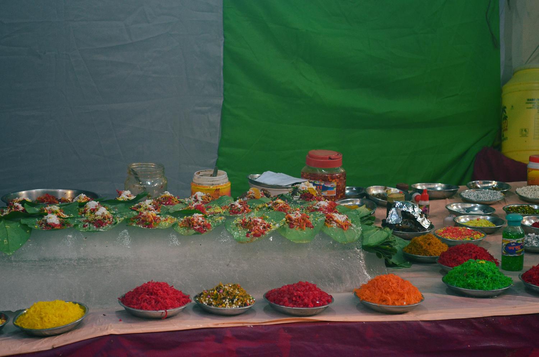 paan stall outside Badamtal Durga Pandal