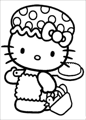 Evil Hello Kitty Coloring Pages