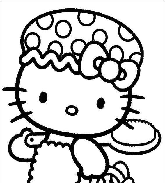 Hello Kitty And Minnie Mouse Coloring Pages : Hello kitty coloring pages learn to