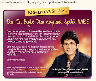 Komentar Positif Dr. Boyke Dian Nugraha untuk Buku Tips Cara Agar Cepat Hamil