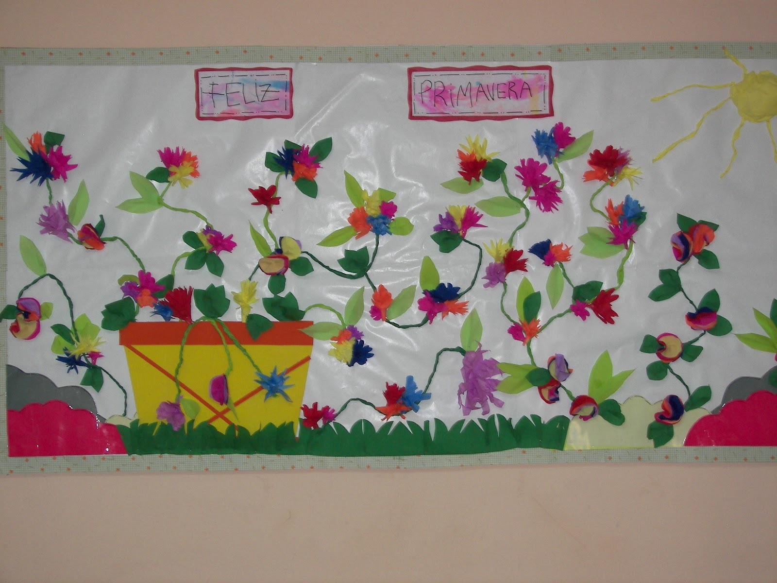 Decoraci n en el jard n de infantes friso de primavera for Decoracion jardin maternal