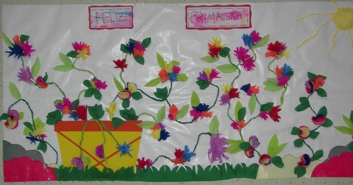 Decoraci n en el jard n de infantes friso de primavera for Decoracion jardin infantes