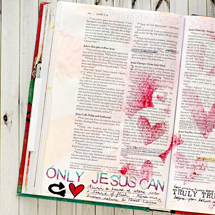 Art Worship Art Journaling Bible | John 2 | She Reads Truth | Illustrated Faith