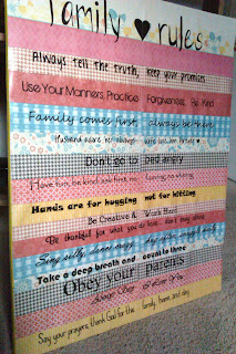 diy family rules canvas