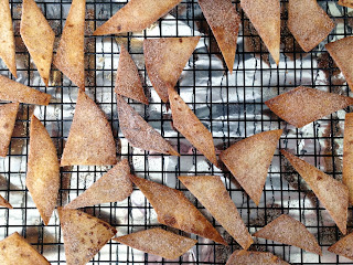 baked cinnamon sugar tortilla crisps