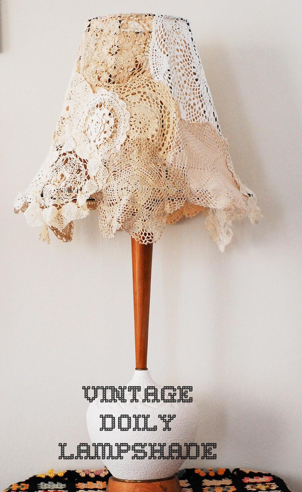 maize hutton vintage doily lampshade diy. Black Bedroom Furniture Sets. Home Design Ideas
