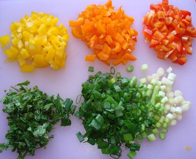 veggies for instant pizza