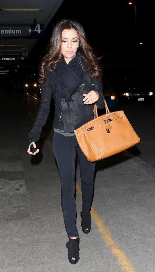 Eva Longoria arrives at LAX Airport Los Angeles