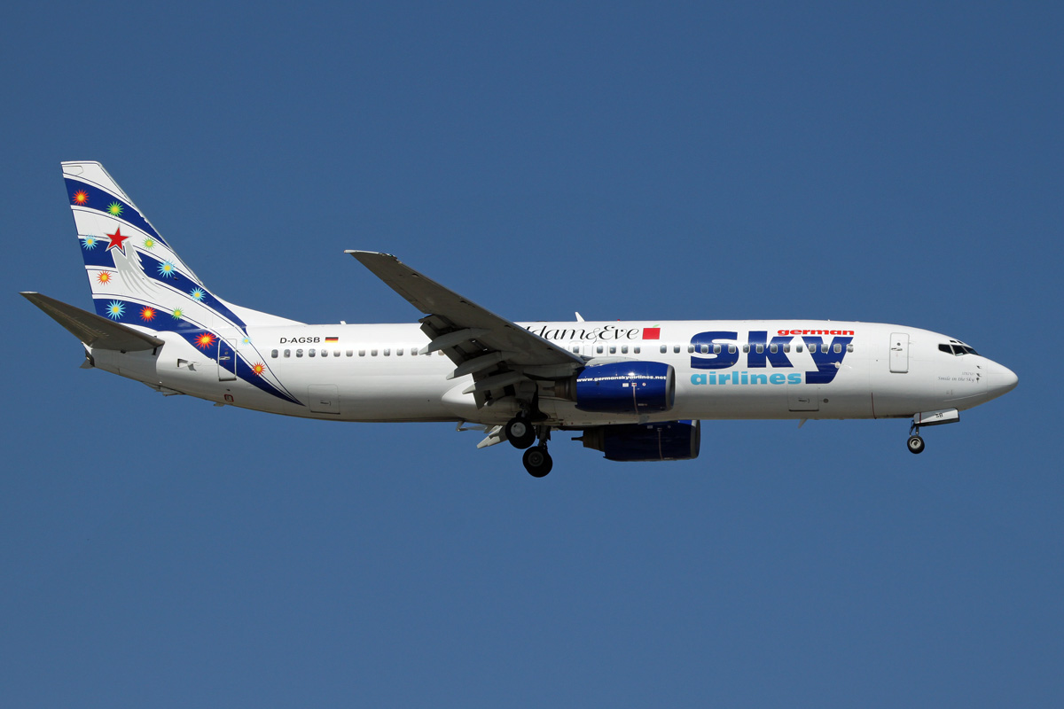 Airline German Sky Airlines (German Sky Airlines). Official sayt.2