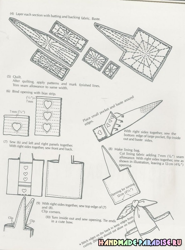 Японский журнал. Сумки в технике пэчворк