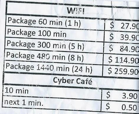 Preços da internet nos navios da MSC Cruzeiros
