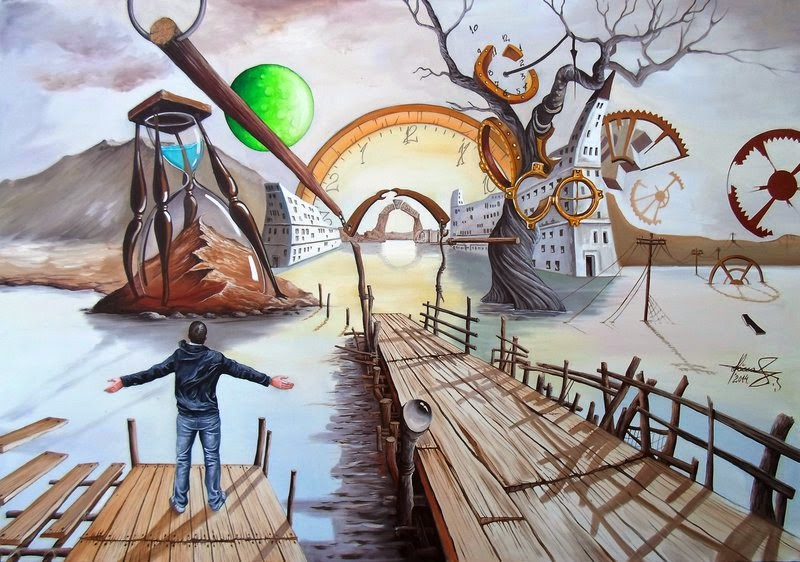 01-Land-Before-Time-Raceanu-Mihai-Adrian-Surreal-Oil-Paintings-www-designstack-co