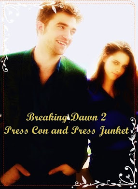 Rob and Kristen Breaking Dawn 2 Press Con and Press Junket