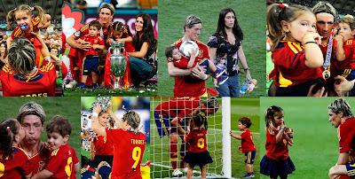 Fernando Torres, Olalla Domínguez y sus hijos Nora y Leo