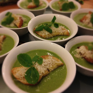 Pea and Mint Soup with Spenwood Toast and Pea Shoots