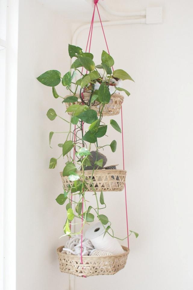 DIY: cestas colgantes para organizar