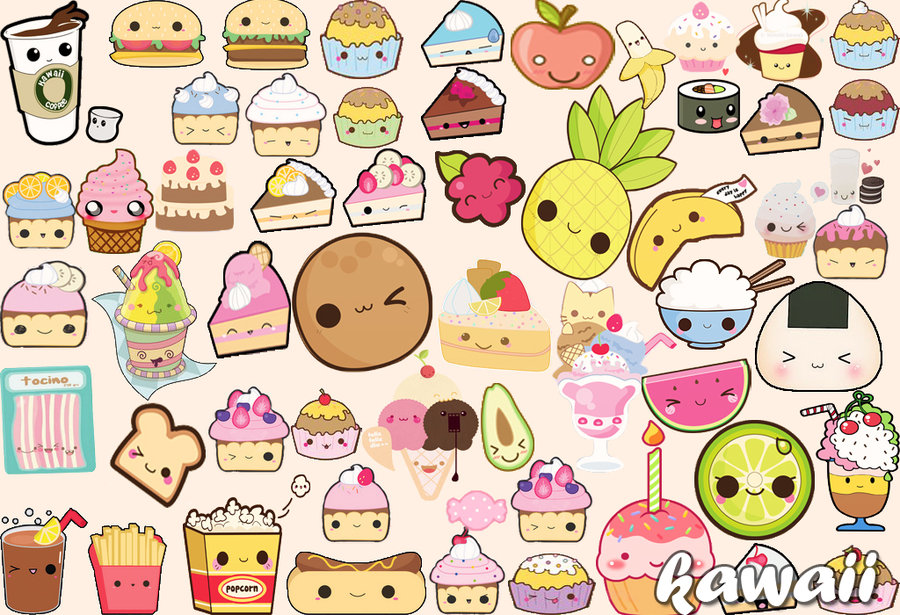wallpaper food kawaii -#main