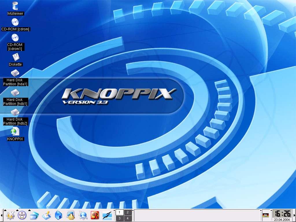 Gambar Desktop Knoppix