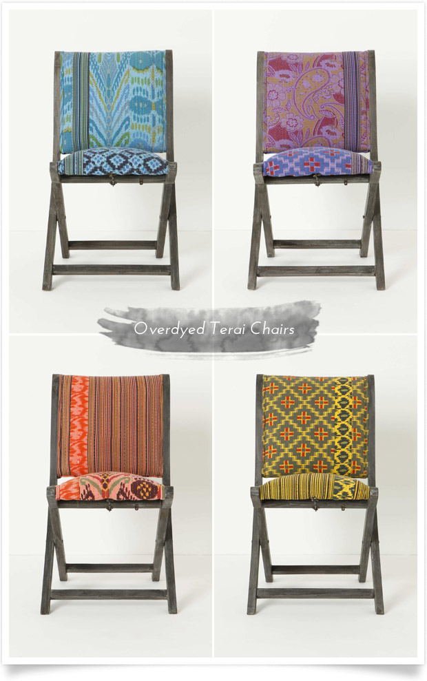 Overdyed Terai Chairs by Anthropologie