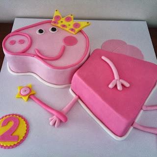 bolo decoração simples peppa pig