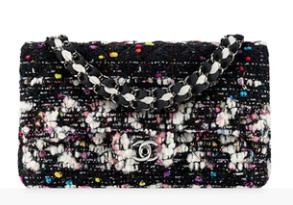 Bolso con solapa tweed Chanel FW 2014-2015