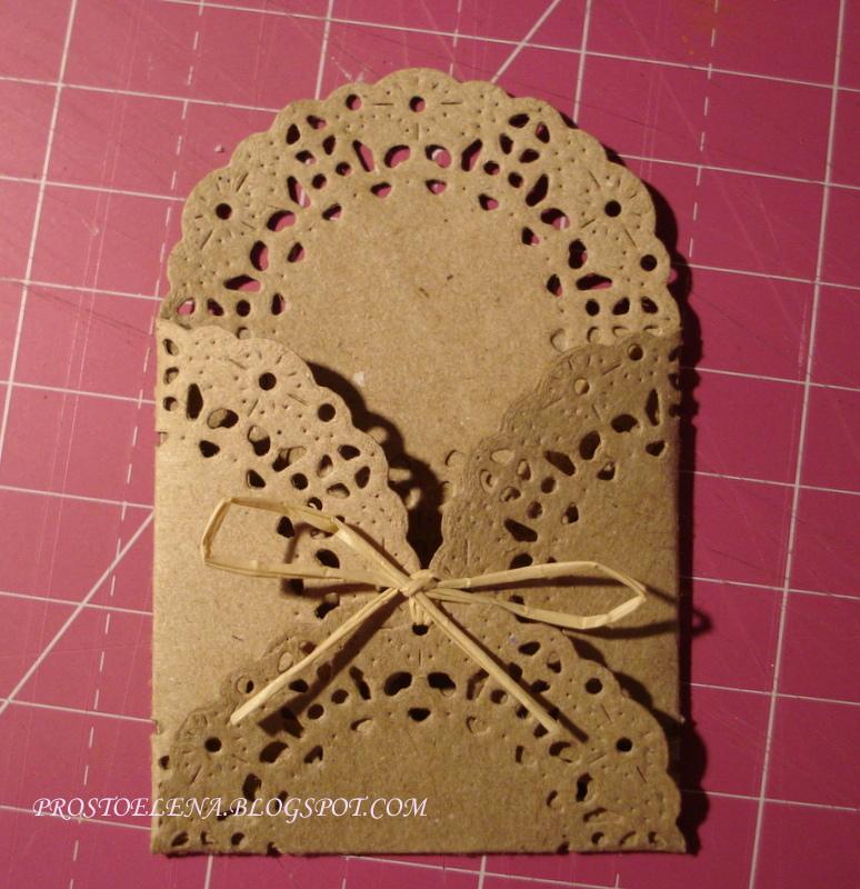 Конверт из ажурной салфетки своими руками 76
