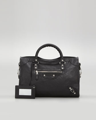 Balenciaga Giant 12 Nickel City Bag, Black