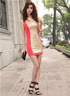 Hip OL Style Column Dress
