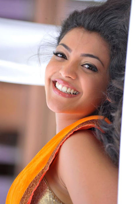 kajal agarwal test saree in business man hot images